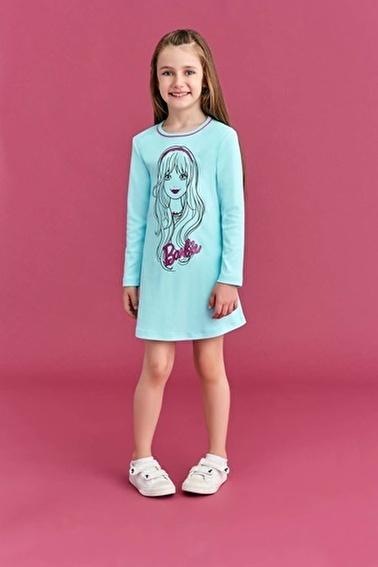 Barbie Barbie Lisanslı Kız Çocuk Gecelik Fuşya Mavi